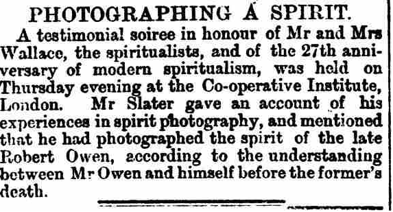 Clipping from Edinburgh Evening News  about spirit photography