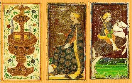 Some of the oldest surviving tarot cards created in the mid 15th century